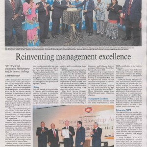 Reinventing management excellence  – TMR (20/4/2016)