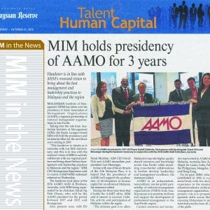 MIM holds presidency of AAMO for 3 years  – TMR (21/10/2016)