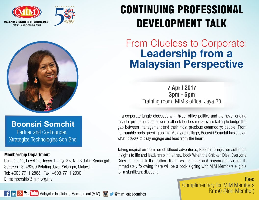 From Clueless to Corporate Leadership from a Malaysian Perspective