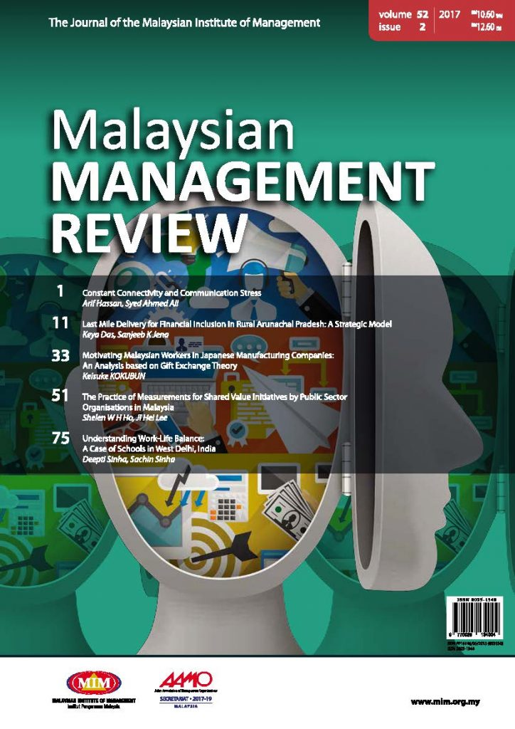MMR Journal - Malaysian Institute of Management
